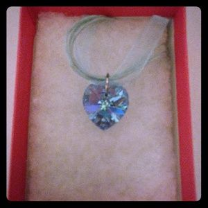 Jewelry - Paradise Blue Crystal Heart Necklace